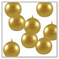 "Metallic Gold Ball Candles - 1 1/2"" bie-b-met-gold"