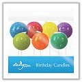 Glitter Globes Sculpted Birthday Cake Candles design-bd-757-06499