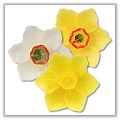 "Daffodil Blossom Floating Candles - 3¾"" diameter - (Set of 3) bpi-983bp00"