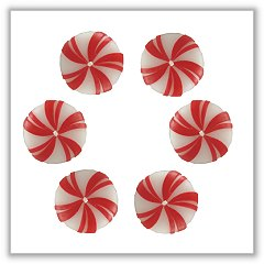 Peppermint Floats Floating Candles - Set of 6 bie-fl-pepper