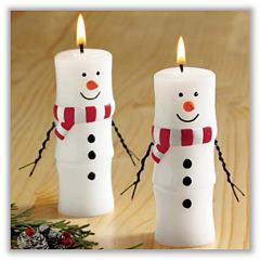 Marshmallow Snowman Candle (Each) tag-ch710345