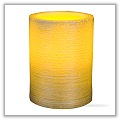 "LED Golden Flicker Pillar Candle - 4""h x 3""dia tag-led205027"