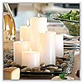 Chapel Pillar Candles - White