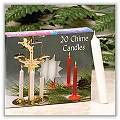 "Chime Straight Sided Candles - Red - 1/2"" x 4"" - (Box of 20)"