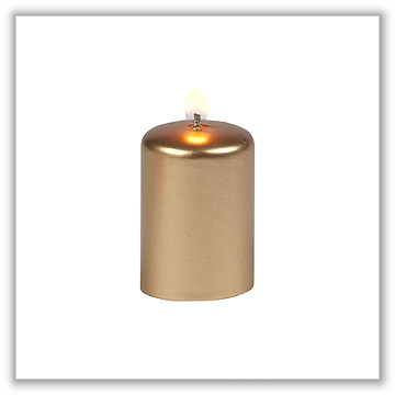 Metallic gold votive candles unscented metallic for Shimmer pillar candle