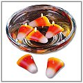 Candy Corn Floating Candles - Set of 4 e-fl-cc