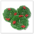 Holly Wreath Floating Candles - 3½ inches a-fl-hlwr