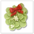 Mistletoe Floating Candles - 3½ inches a-fl-mist