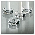 Disc Taper Candle Holder - Clear Glass tag-hld104819