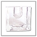 Cube Glass Holder (S-1) - Holds ¼ inch taper candles (6 per box) c-hd-c1