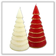 Glitter Tree Candles tag-ch710025-27
