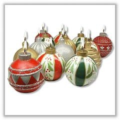Ornament Ball Candles - 2-3/8 Inches - Set of 3 e-hbo