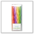 Mini Twisted Tapers - ¼ x 7 inches - (mixed colors set of 24) tag-ta410036